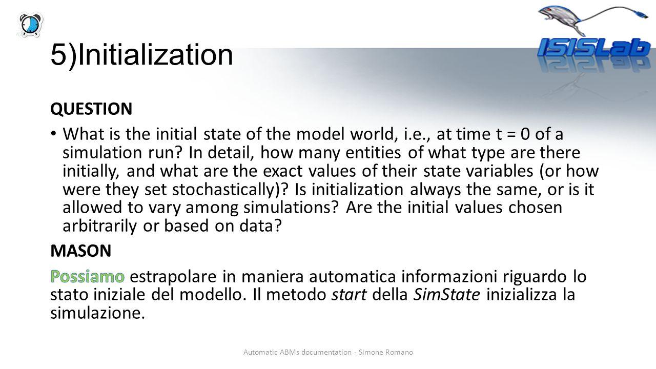 5)Initialization
