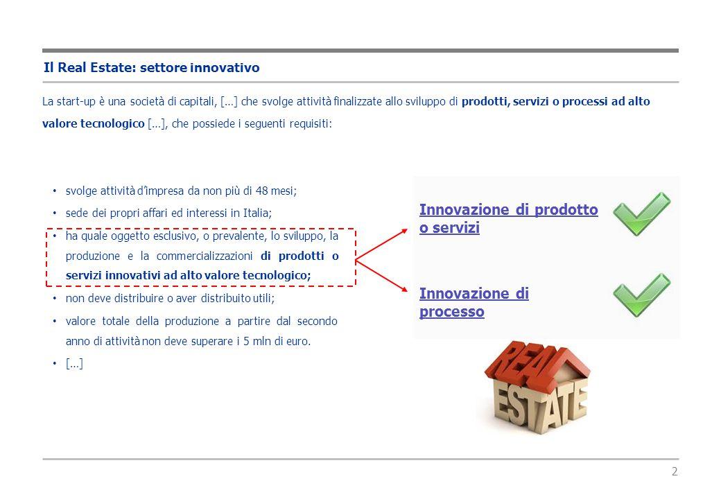 3 Il Real Estate: settore innovativo Assonime, nella circolare n.