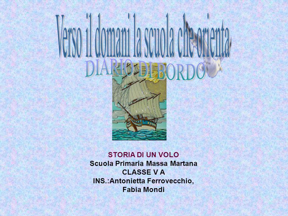 STORIA DI UN VOLO Scuola Primaria Massa Martana CLASSE V A INS.:Antonietta Ferrovecchio, Fabia Mondi