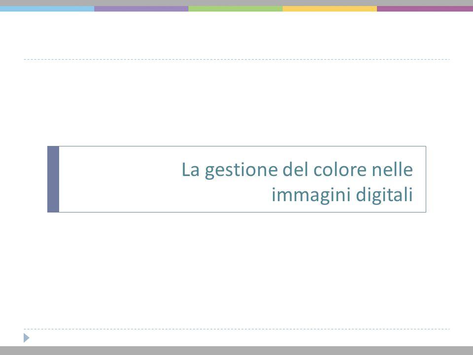 La gestione del colore nelle immagini digitali