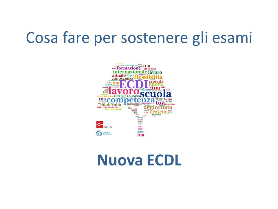 Come iscriversi agli esami ECDL CORE 1.