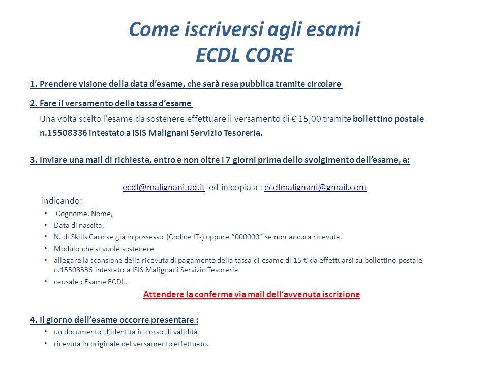 Come iscriversi agli esami ECDL per i possessori di Aula01 1.