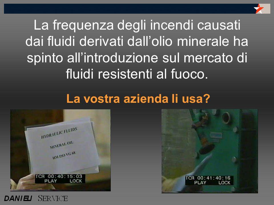 La frequenza degli incendi causati dai fluidi derivati dall'olio minerale ha spinto all'introduzione sul mercato di fluidi resistenti al fuoco.