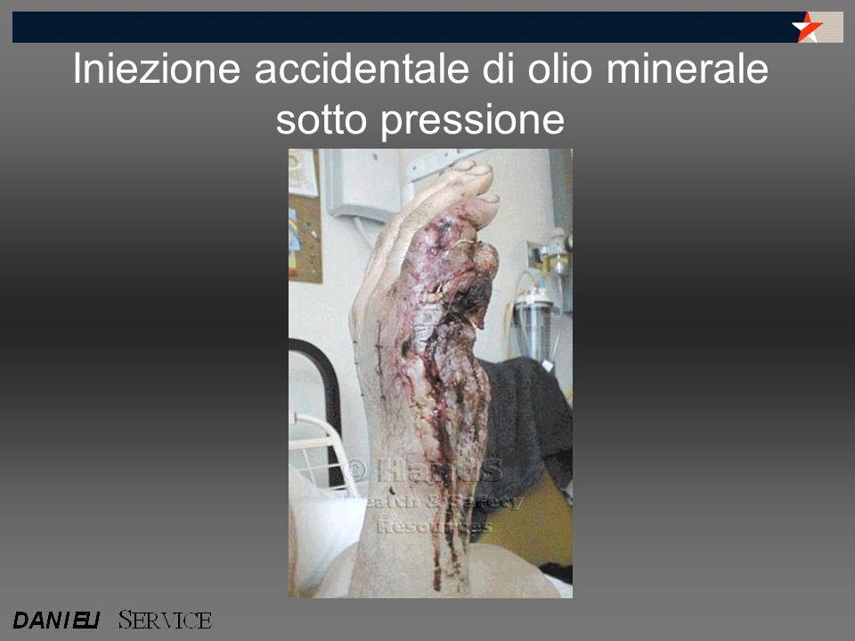 Iniezione accidentale di olio minerale sotto pressione