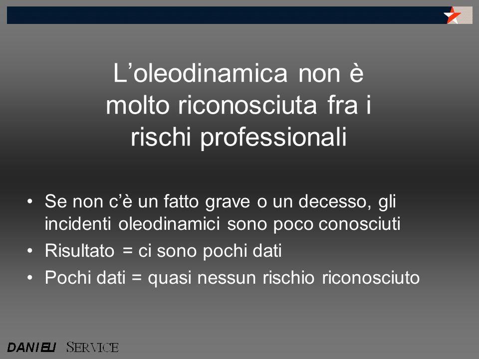 L'oleodinamica non è molto riconosciuta fra i rischi professionali Se non c'è un fatto grave o un decesso, gli incidenti oleodinamici sono poco conosc