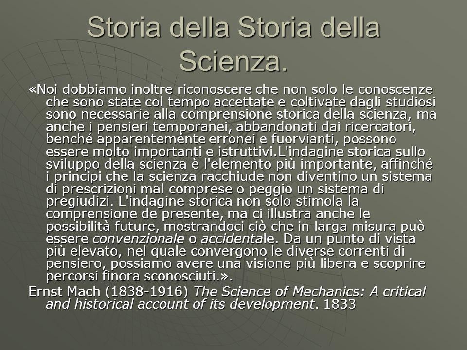 Storia della Storia della Scienza.