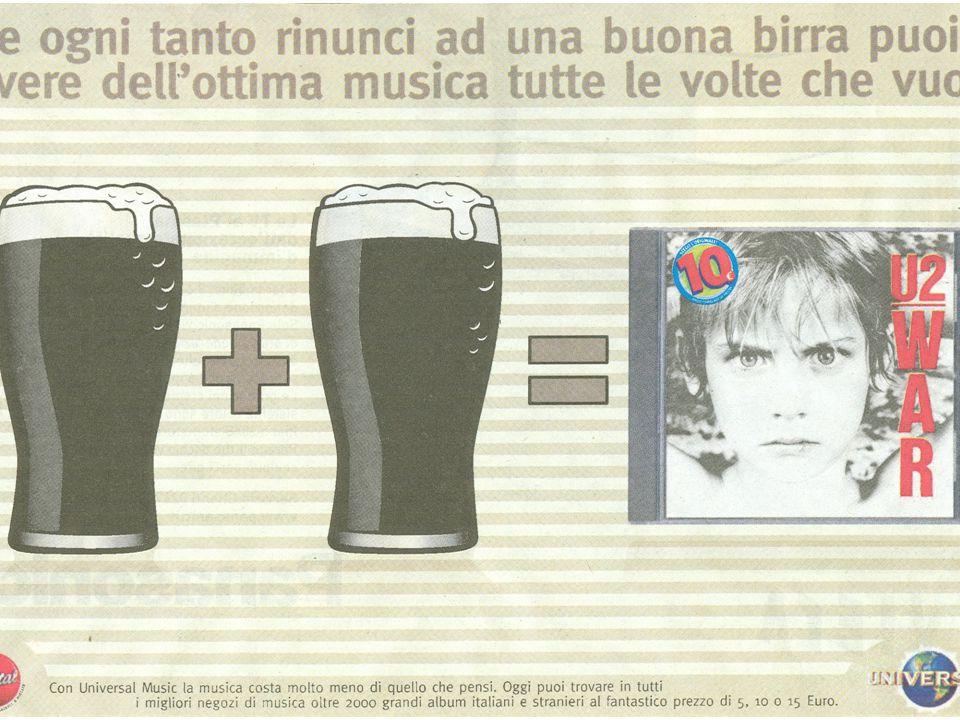 La società incentiva il consumo di alcol attraverso immagini legate al mondo giovanile anche se in Italia questo sarebbe proibito dalla Legge Quadro s