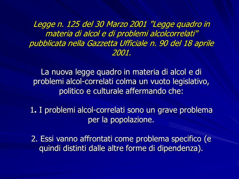 PIANO SANITARIO NAZIONALE 1998-2000 Obiettivi di salute sull'alcol  Ridurre del 20% la prevalenza d egli uomini e delle donne che c onsumino rispetti