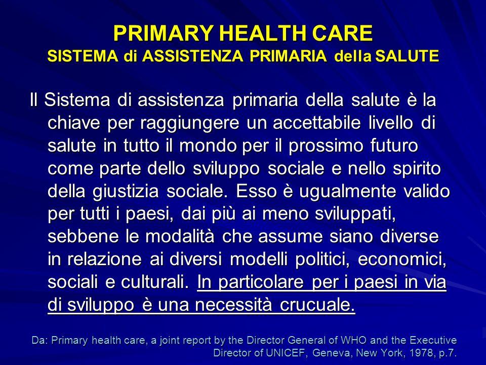 Se la salute non inizia con l'individuo, la casa, la famiglia, il luogo di lavoro e la scuola non sarà mai raggiunto l'obiettivo della salute per tutti.