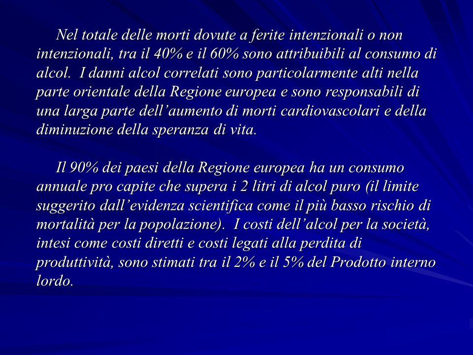 SALUTE 21 - I PRINCIPI DI SALUTE PER TUTTI PER LA REGIONE EUROPEA ORGANIZZAZIONE MONDIALE DELLA SANITA' - MARZO 1999 CAPITOLO 5 – STRATEGIE MULTISETTORIALI PER CREARE LA SALUTE SOSTENIBILE 5.3.2.