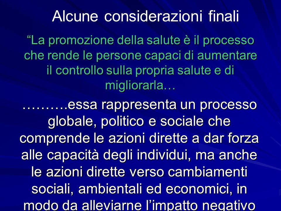 COMPONENTI Informare la cittadinanza Accessibilità dell'alcol (prezzi promozionali,vendite ai minori) Controllo della legge sull'alcol (guida, pubblic