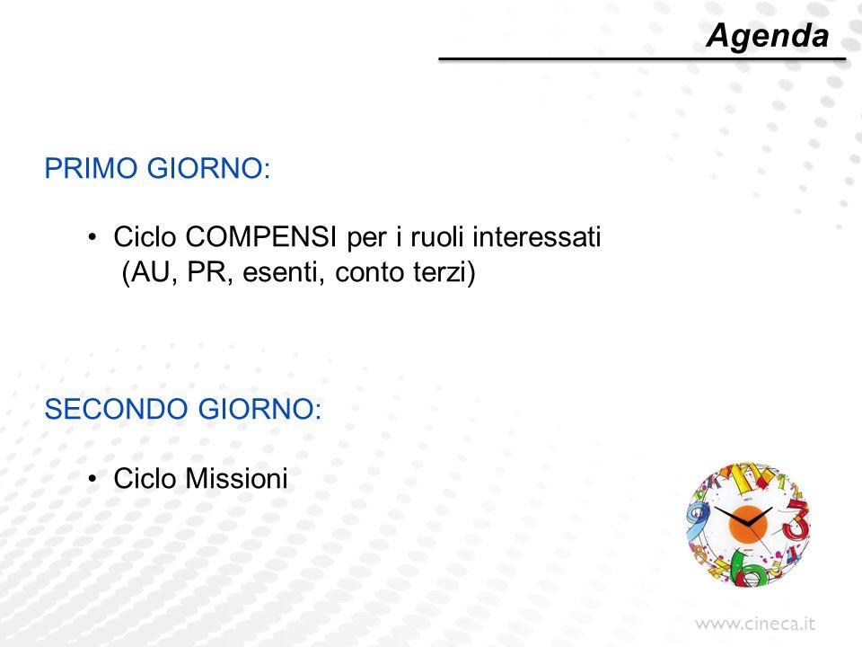 www.cineca.it Modulo dei COMPENSI