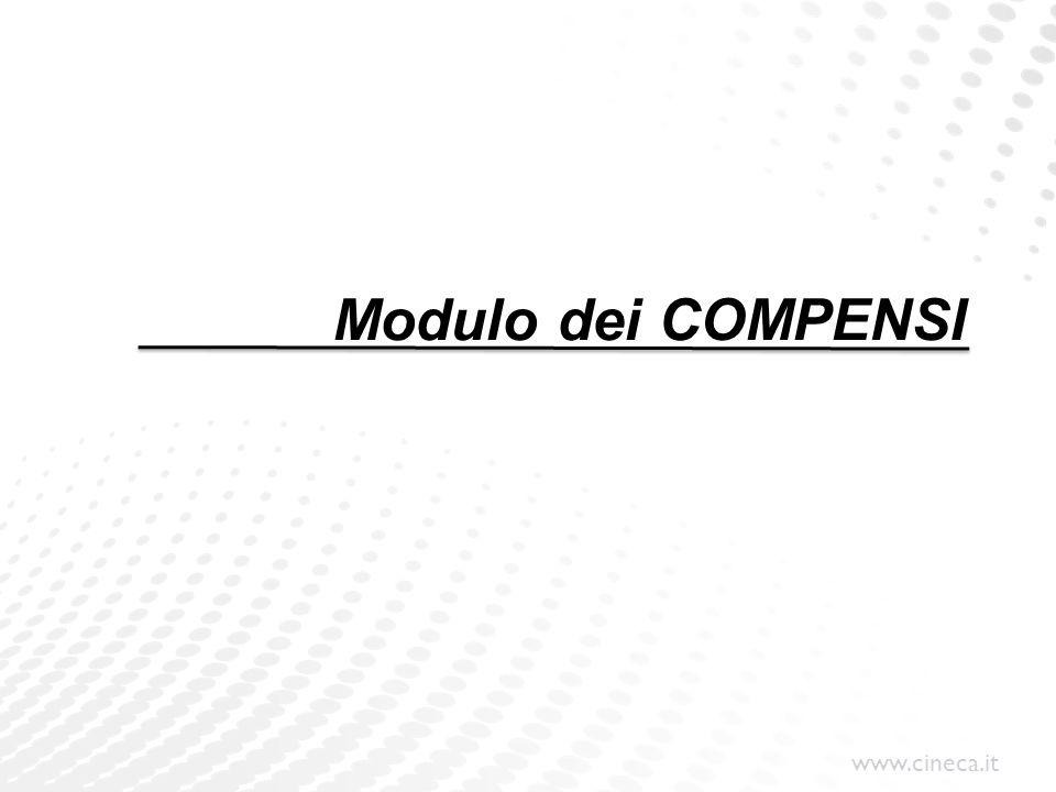 www.cineca.it Funzionamento di U-GOV Compensi DG Ciclo Compensi: PRE - CONTRATTO (non obbligatorio) CONTRATTO COMPENSO ORDINATIVO DI PAGAMENTO Relazione predecessore - successore