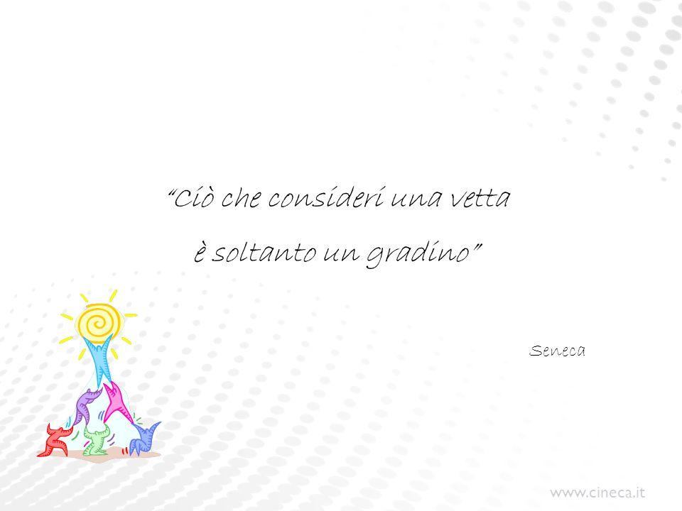 """www.cineca.it """"Ciò che consideri una vetta è soltanto un gradino"""" Seneca"""