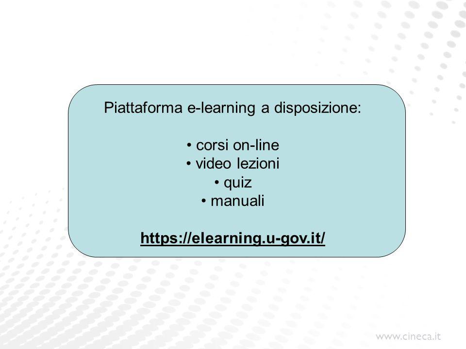 www.cineca.it Grazie per l'attenzione Daniela Buldrini Dipartimento Servizi e Soluzioni per l Amministrazione Universitaria Divisione Risorse Umane Contatto e–mail: d.buldrini@cineca.it