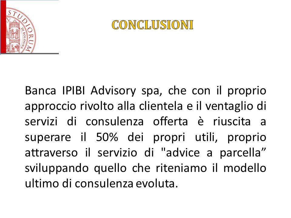 Banca IPIBI Advisory spa, che con il proprio approccio rivolto alla clientela e il ventaglio di servizi di consulenza offerta è riuscita a superare il