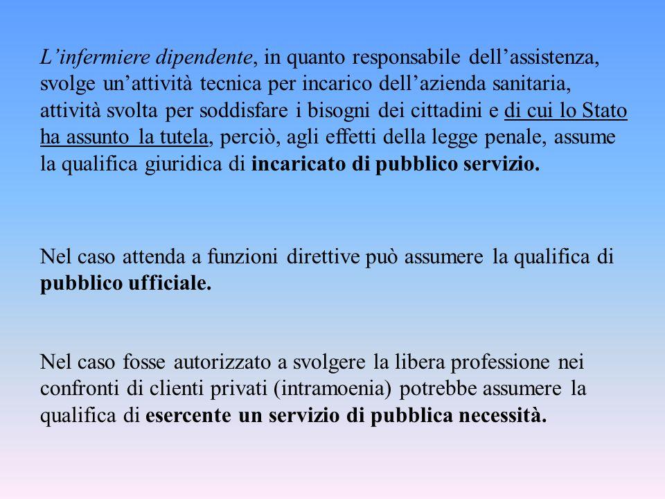 Nel caso fosse autorizzato a svolgere la libera professione nei confronti di clienti privati (intramoenia) potrebbe assumere la qualifica di esercente