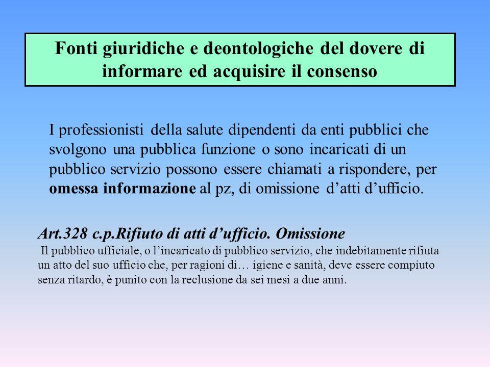 Art.328 c.p.Rifiuto di atti d'ufficio. Omissione Il pubblico ufficiale, o l'incaricato di pubblico servizio, che indebitamente rifiuta un atto del suo