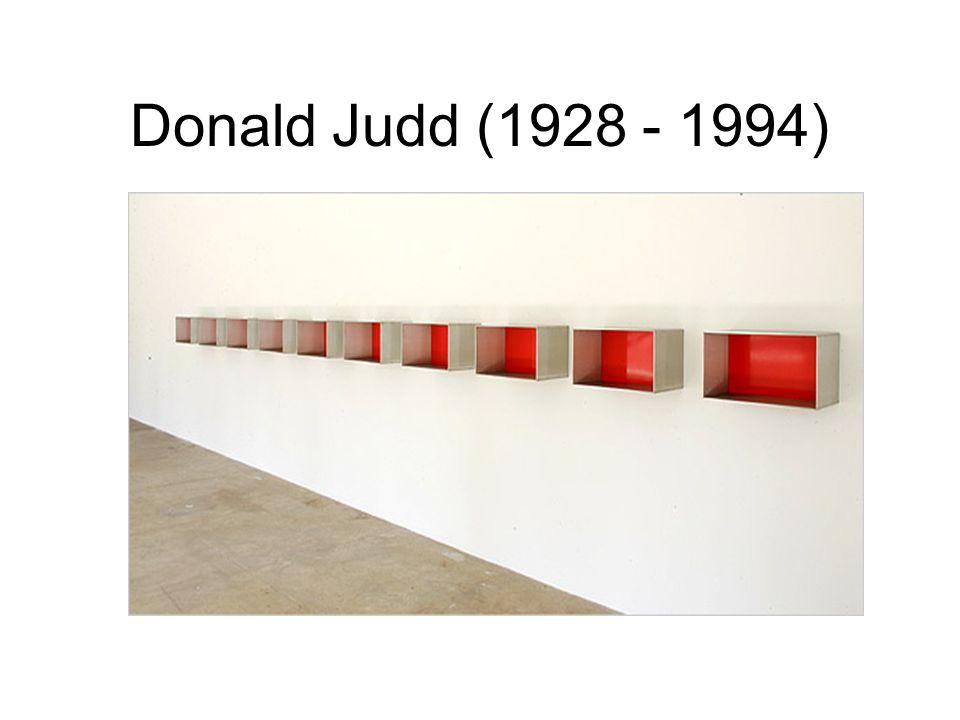 Donald Judd (1928 - 1994)
