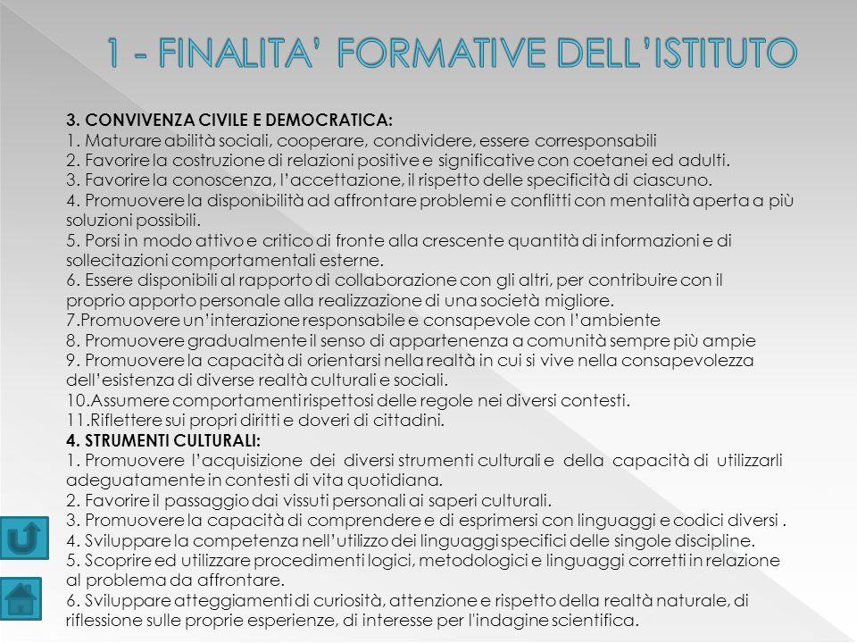 3.CONVIVENZA CIVILE E DEMOCRATICA: 1.