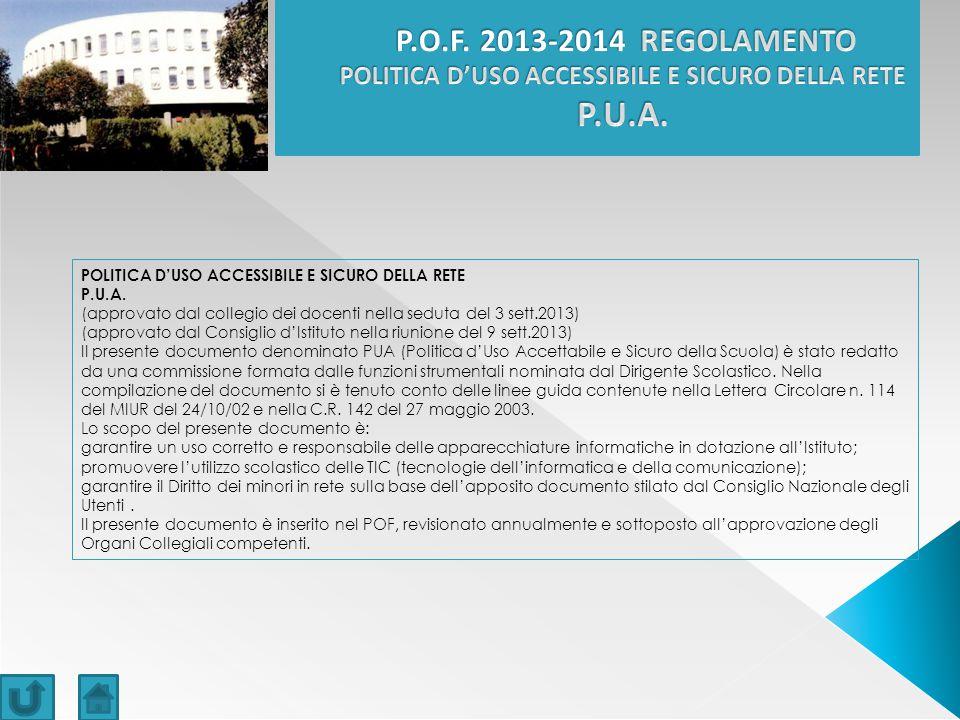 POLITICA D'USO ACCESSIBILE E SICURO DELLA RETE P.U.A.