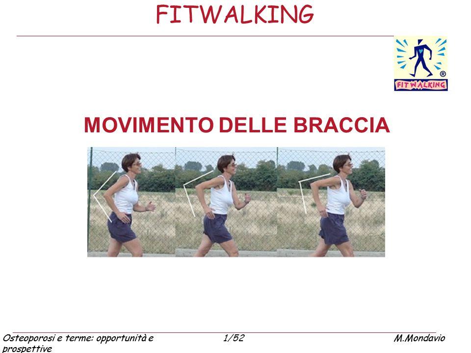 Osteoporosi e terme: opportunità e prospettive M.Mondavio1/52Osteoporosi e terme: opportunità e prospettive M.Mondavio FITWALKING MOVIMENTO DELLE BRAC
