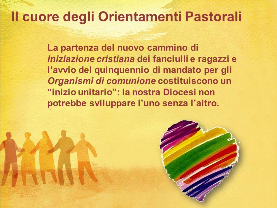 Il cuore degli Orientamenti Pastorali La partenza del nuovo cammino di Iniziazione cristiana dei fanciulli e ragazzi e l'avvio del quinquennio di mand