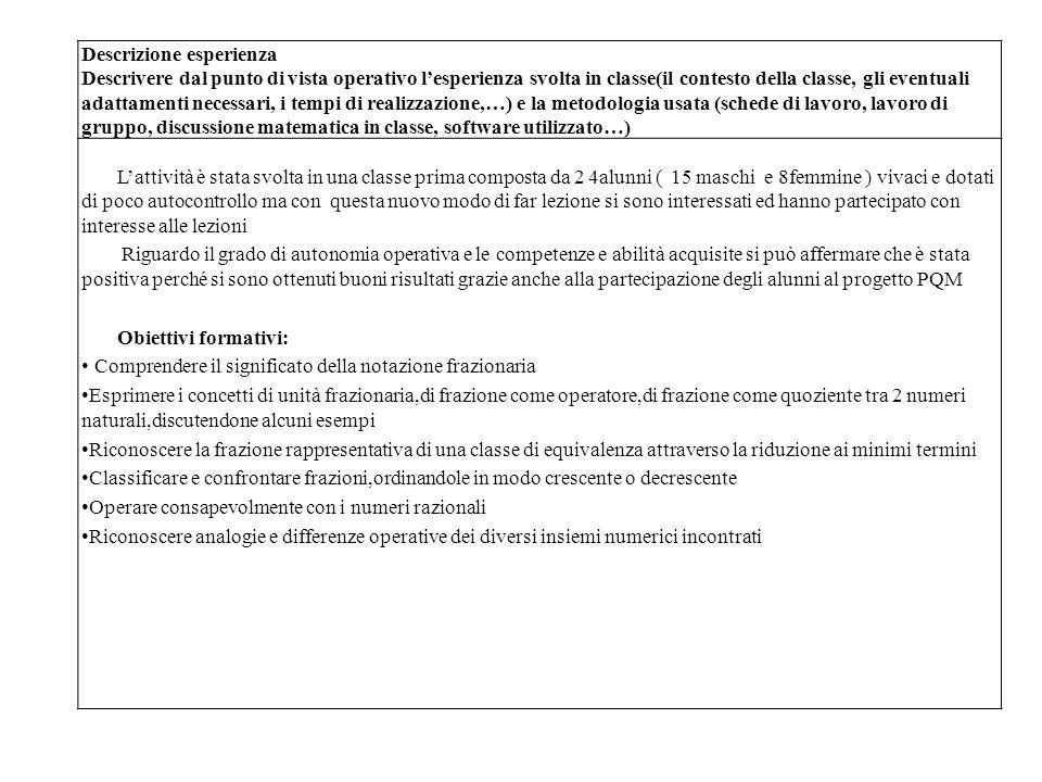 Prerequisiti: Aver acquisito i concetti di multiplo,di divisore e di m.c.m.