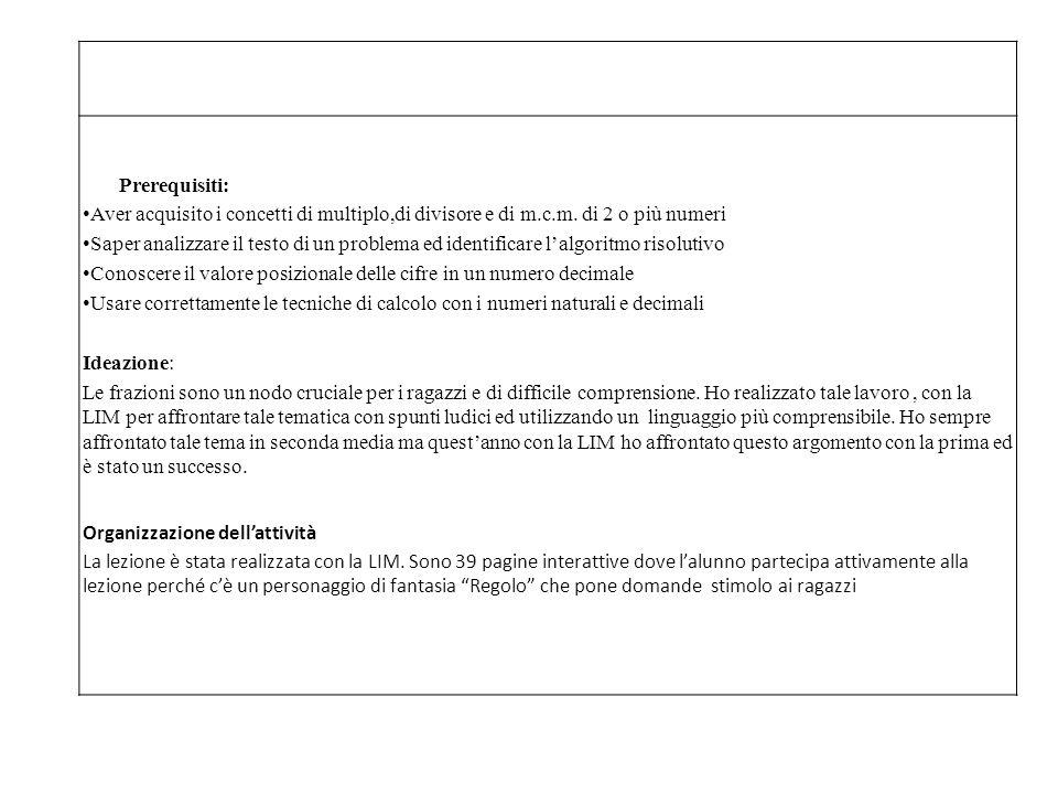Descrizione dell'attività prima fase Si parte da una serie di domande (da pag.1 a pag.