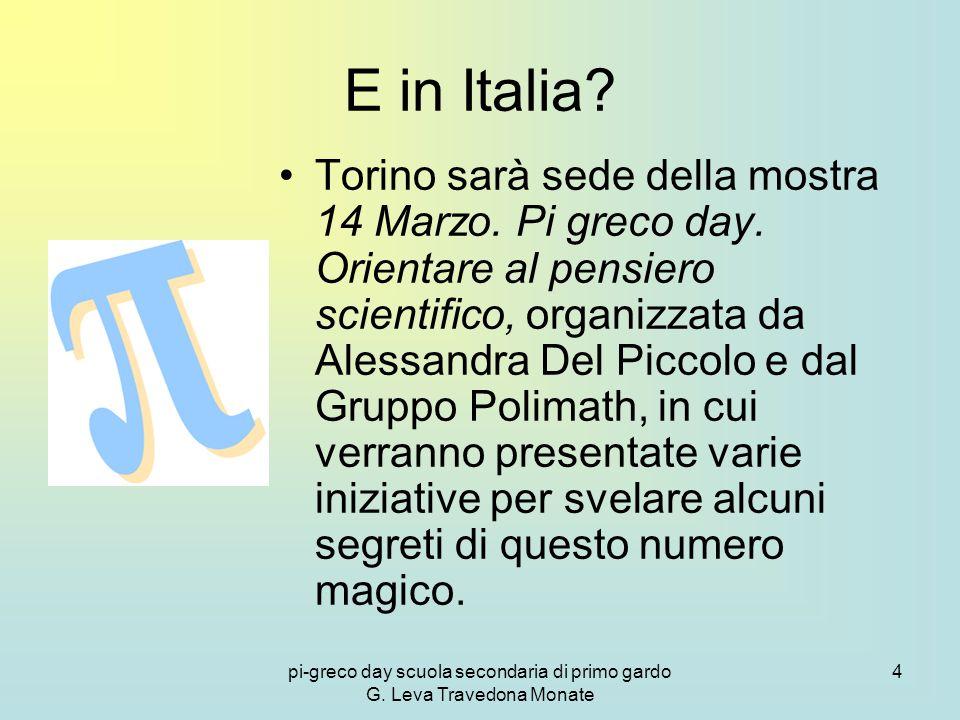 pi-greco day scuola secondaria di primo gardo G.Leva Travedona Monate 4 E in Italia.