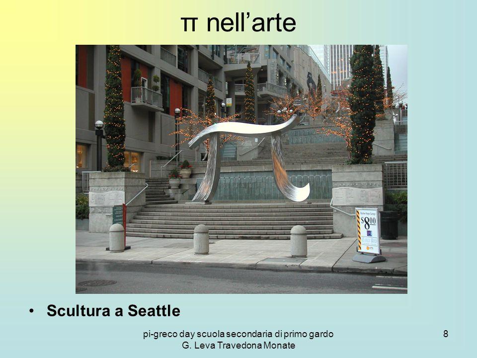 pi-greco day scuola secondaria di primo gardo G. Leva Travedona Monate 8 π nell'arte Scultura a Seattle