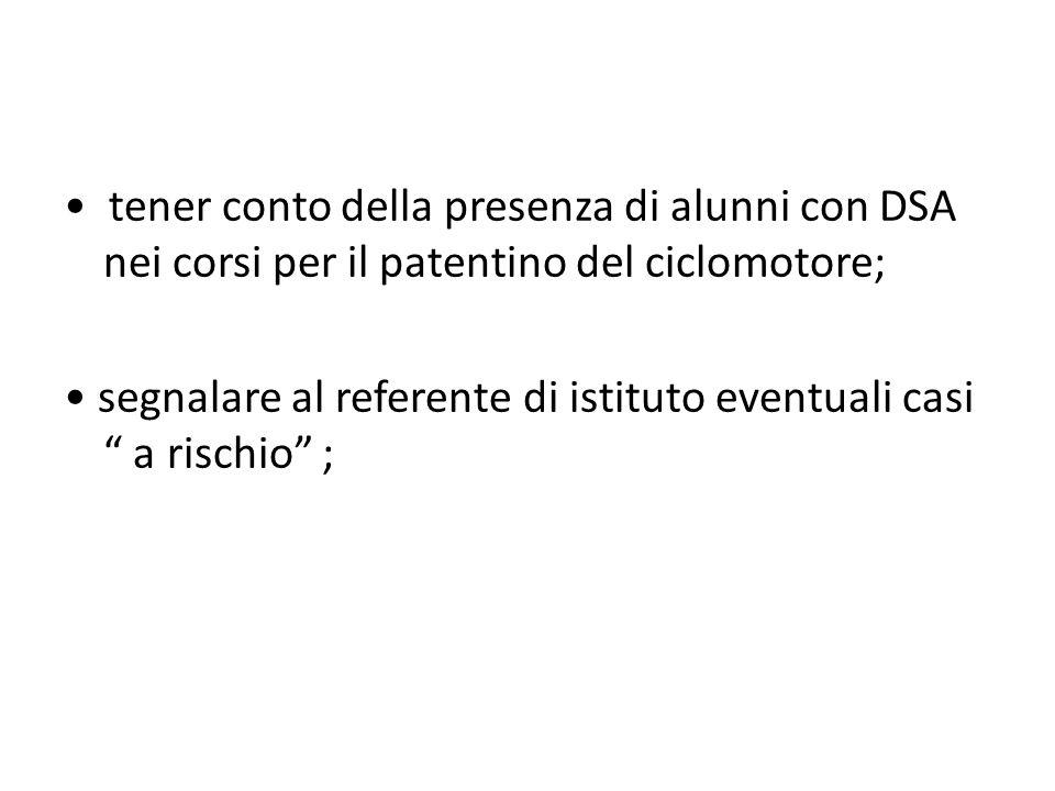 AZIONI SPECIFICHE PER GLI STUDENTI D.S.A.