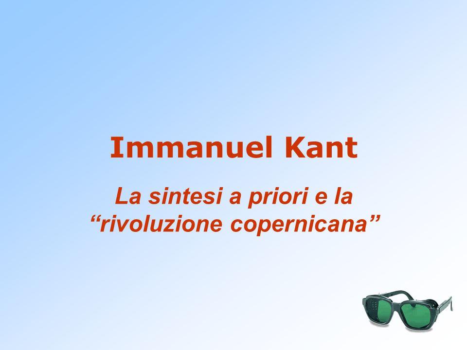 """Immanuel Kant La sintesi a priori e la """"rivoluzione copernicana"""""""