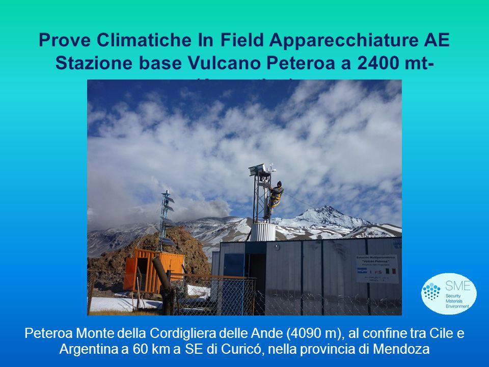 Prove Climatiche In Field Apparecchiature AE Stazione base Vulcano Peteroa a 2400 mt- (Argentina) Peteroa Monte della Cordigliera delle Ande (4090 m),