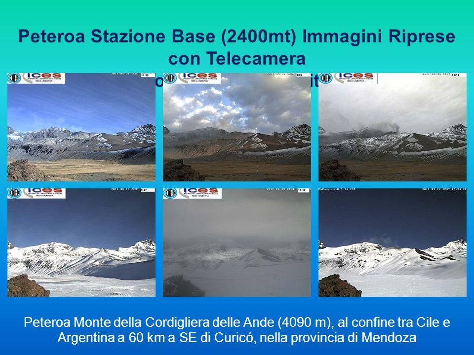 Peteroa Stazione Base (2400mt) Immagini Riprese con Telecamera collegata via Satellite Peteroa Monte della Cordigliera delle Ande (4090 m), al confine