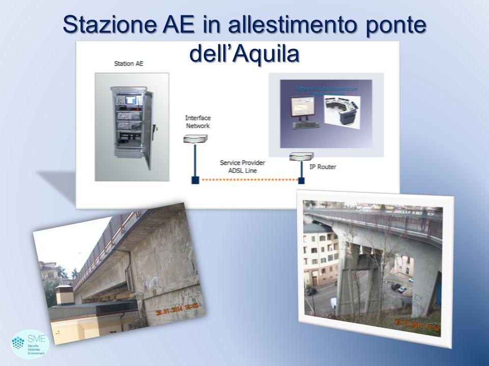 Stazione AE in allestimento ponte dell'Aquila