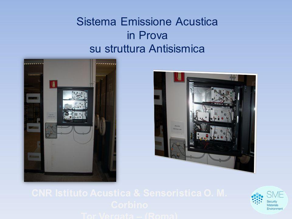 CNR Istituto Acustica & Sensoristica O. M. Corbino Tor Vergata – (Roma) Sistema Emissione Acustica in Prova su struttura Antisismica