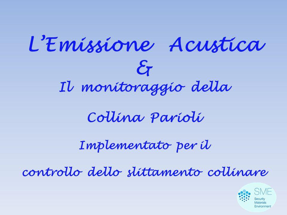 L'Emissione Acustica & Il monitoraggio della Collina Parioli Implementato per il controllo dello slittamento collinare