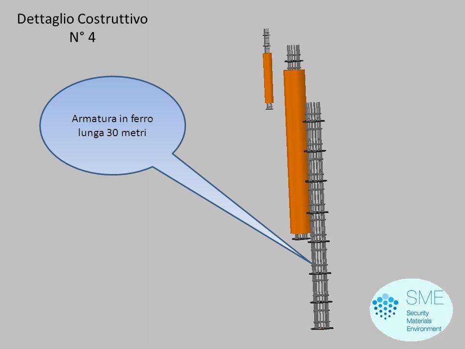Dettaglio Costruttivo N° 4 Armatura in ferro lunga 30 metri