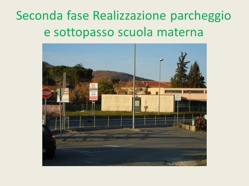 Seconda fase Realizzazione parcheggio e sottopasso scuola materna
