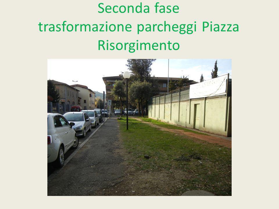 Seconda fase trasformazione parcheggi Piazza Risorgimento