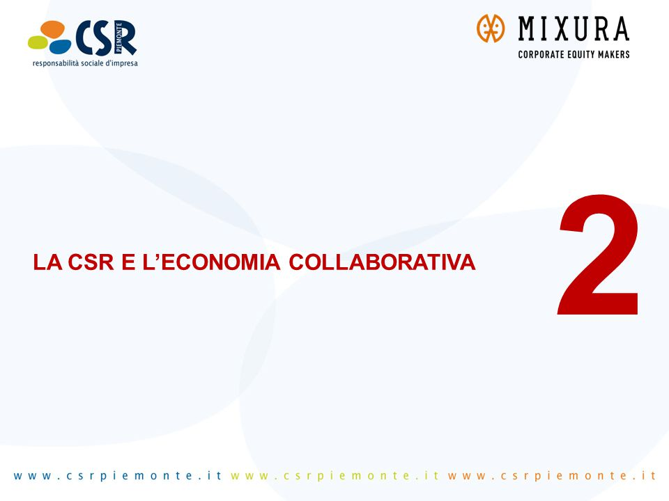 LA CSR E L'ECONOMIA COLLABORATIVA 2
