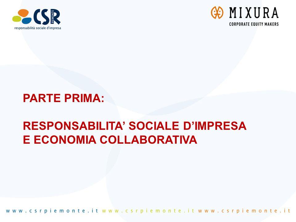 PARTE PRIMA: RESPONSABILITA' SOCIALE D'IMPRESA E ECONOMIA COLLABORATIVA