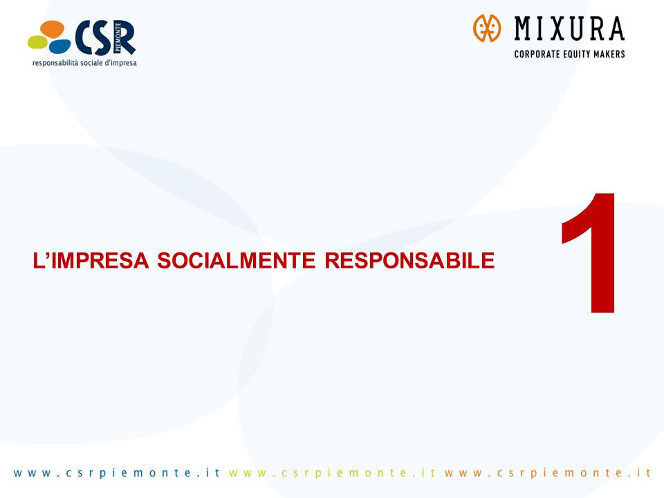 L'IMPRESA SOCIALMENTE RESPONSABILE 1