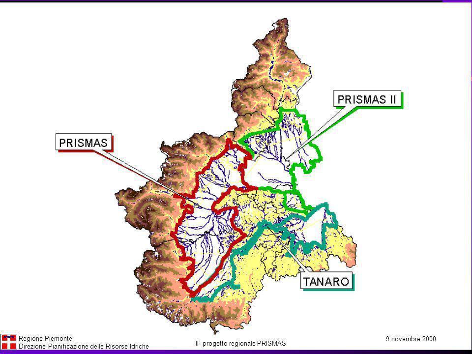 La gestione informatica dei dati della rete 9 novembre 2000 Regione Piemonte Direzione Pianificazione delle Risorse Idriche Il progetto regionale PRISMAS PRISMAS