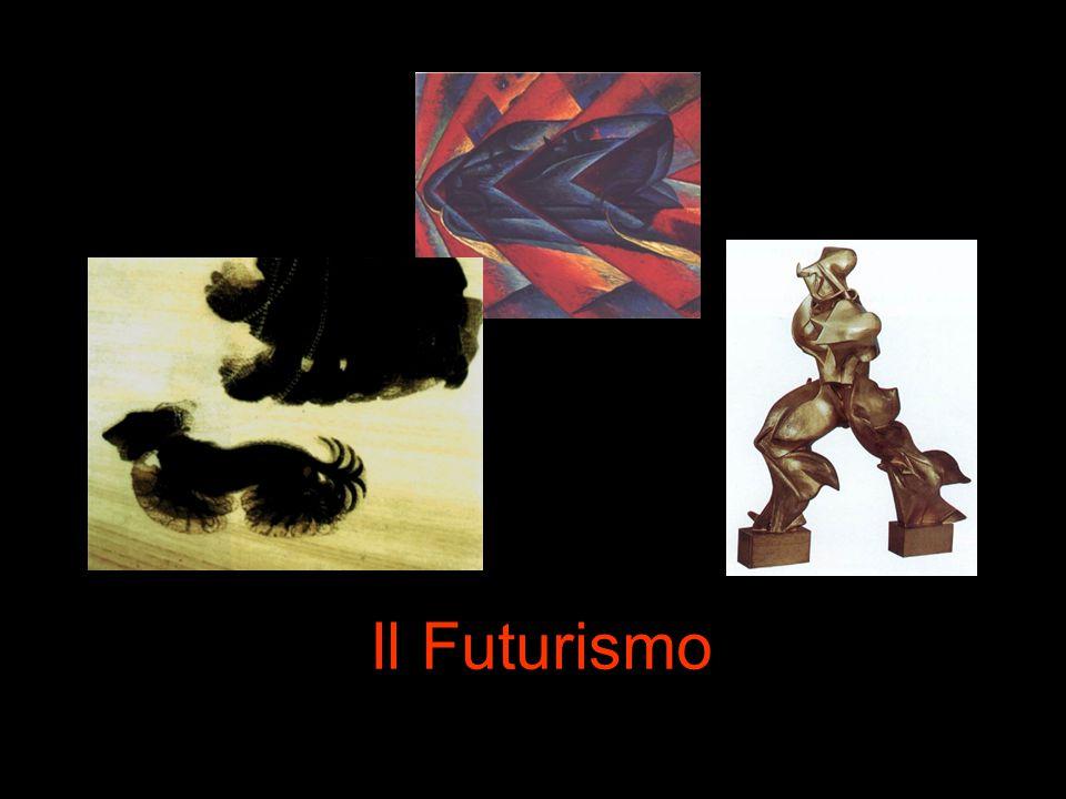 E' l'unica avanguardia italiana Nasce nel 1909, con la pubblicazione del Manifesto del Futurismo di F.T.