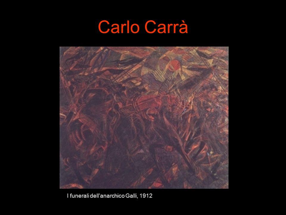Carlo Carrà I funerali dell'anarchico Galli, 1912