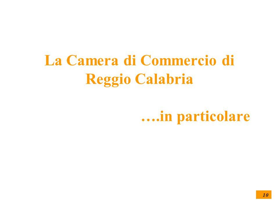 10 La Camera di Commercio di Reggio Calabria ….in particolare