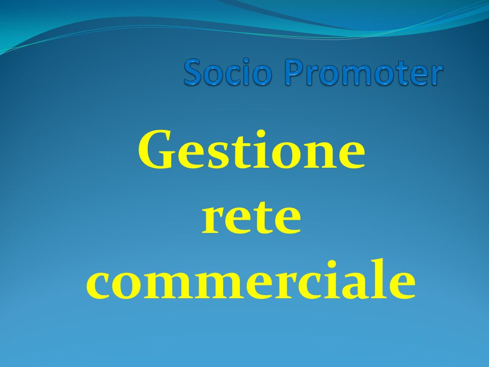 Gestione rete commerciale