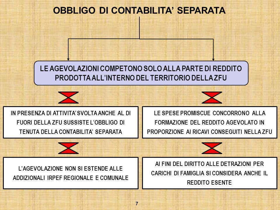 REGIME CONTABILE SONO ESCLUSE QUINDI DAI BENEFICI: LE IMPRESE IN REGIME DEI MINIMI E DELLE NUOVE INIZIATIVE PRODUTTIVE 8 LE AGEVOLAZIONI COMPETONO ALLE SOLE IMPRESE IN CONTABILITA' ORDINARIA O SEMPLIFICATA DA VALUTARE L'OPPORTUNITA' O MENO DI ABBANDONARE IL REGIME IN ESSERE ED OPTARE PER LA CONTABILITA' ORDINARIA O SEMPLIFICATA